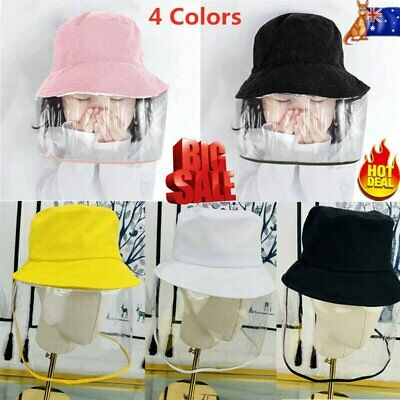 Kids Anti Flu Protection Bucket Hat + Face Cover Removable Windproof Child Cap%N