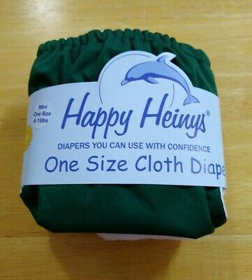 Happy Heinys One Size Cloth Diapers (Mini One Size 5-15lbs) (Dark Green)