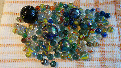 Lot of 1990s vintage marbles toys (different sizes, styles, types)
