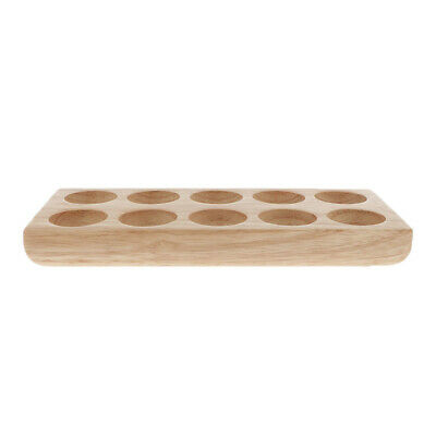 Solid Wood Essential Oil Tray Aromatherapy Organizer for 10 Bottles or Rollers