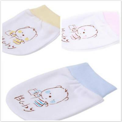 Baby Cartoon Anti Scratching Gloves Hand Face Protect Newborn Soft Mittens MH