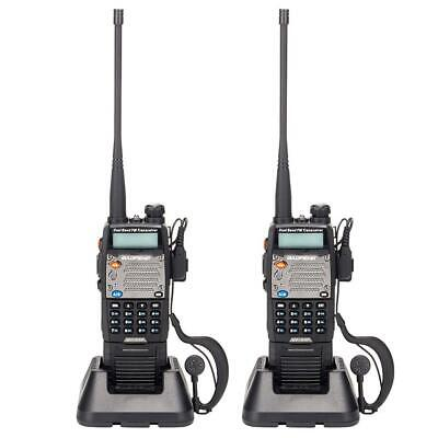 2 x Baofeng UV-5XP 8W Walkie Talkie Dual Band Two Way Radio Transceiver 3000 mAh