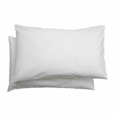 2 x IKEA LEN Cotton Pillowcase for Cot Pillow Baby Toddler Kid White 35 x 55cm