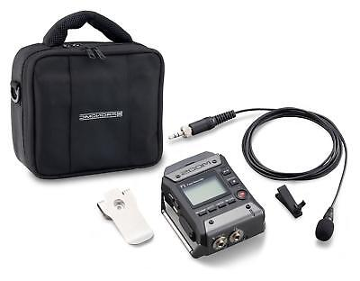 Zoom F1-LP Field Recorder mit Lavaliermikrofon Tasche SD Sound Interview USB