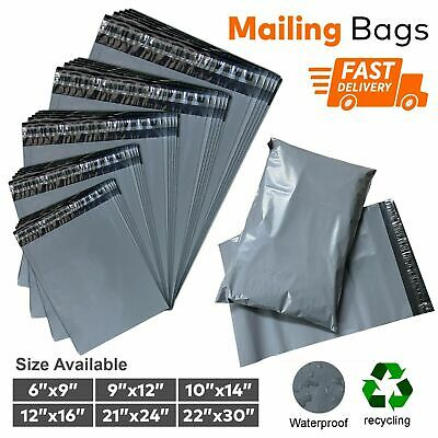 "15 x 18"" Grey Strong Mailing Parcel Postage Plastic Post Poly Bags Self Seal UK"