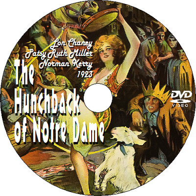 THE HUNCHBACK OF NOTRE DAME - DVD (1923) Drama/Horror - Lon Chaney ++