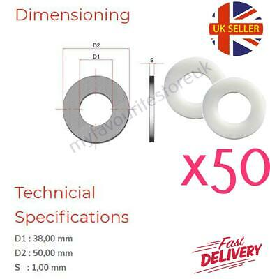 """Plain Sealing 50 x 3//16/"""" Plastic Washers Industrial Non Corrosive Imperial"""