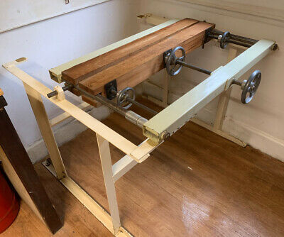 Bookbinding  3 screw laying press designed and made by Derek Beck