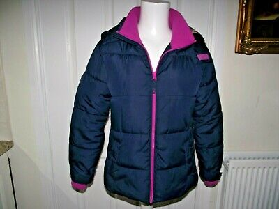 Girls Hooded Coat Age 11-12 Years From Next Blue