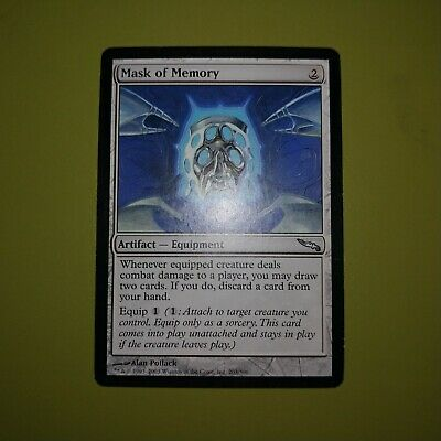 MTG Foil 1X Mask of Memory X1 Mirrodin Magic MP