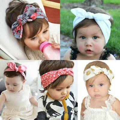 Girls Baby Bunny Bow Hairband Headbands Stretch Turban Knot Head Wrap For Kids
