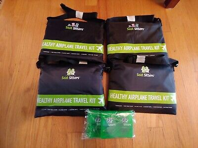 Seat Sitter Healthy Airplane Travel Kit - Clean Healthy Travel - 4 Pack + Extras