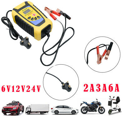 2 Amp Intelligent Car Battery Charger Pulse Repair Starter 6V/12V/24V AGM/GEL UK