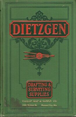 Dietzgen: Drafting & Surveying Supplies Catalog. 1931. With samples and prices