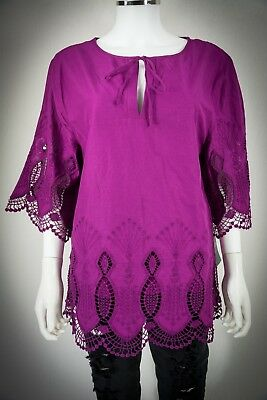 Ralph Lauren size XL Delicate Scalloped Lace Blouse NEW NWT