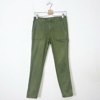 J Crew Green Stretch Cargo Utility Skinny Pants Womens Size 28