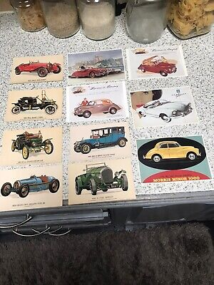 JOB Lot of 11 POST CARDS  OF Old Cars Antique Automobiles