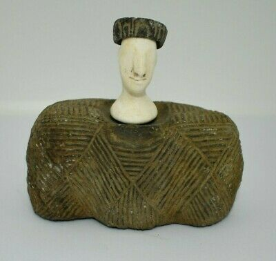A Very Ancient Rare Shaped Bactrian Stone composite idol/Statue from Afghanistan