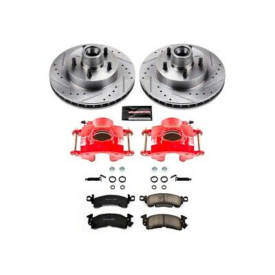 Power Stop KC120A Z23 Evolution Sport Front Kit Rotors Pads and Brake Calipers