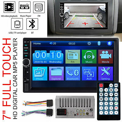 Double 2 Din 7'' Touch Screen Car Stereo iOS/Android Bluetooth Player FM USB AUX