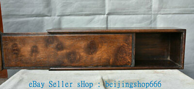 """20"""" Old Chinese Huanghuali Wood Palace Use Cabinet Casket Jewelry Box Case"""
