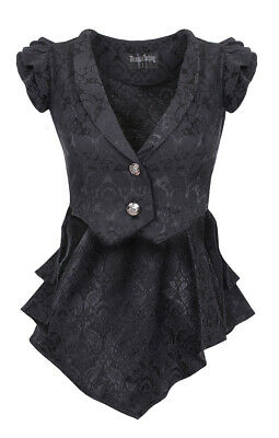 Jacket Light Sleeveless to Tail Pie and Lacing Back, Gothic Draculacloth