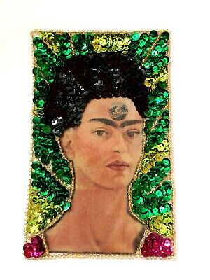 Frida Kahlo Flower Bleeding Heart Patch Set Quality Iron On Embroidered Art A47