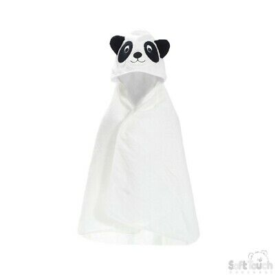 Hooded Baby Towel with PERSONALISATION Baby Shower Gift PANDA design