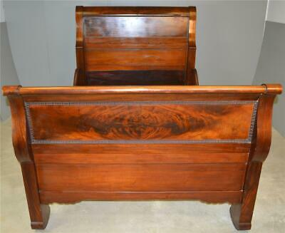 17930 Period Empire Full Size Sleigh Bed