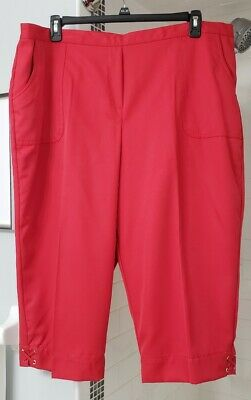 """NWT Alfred Dunner Red Capri pants size 24W """"America's Cup 2018"""" group"""