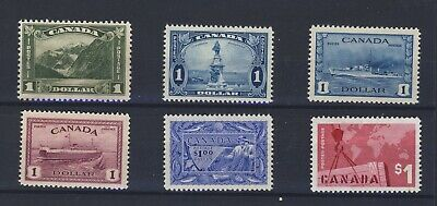 6x Canada $1.00 Stamps Mt. Cavell Champlain Warship Ferry Fish Export GV=$450.00