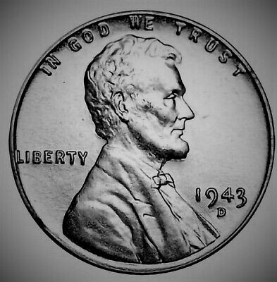 "1943-D Lincoln Steel Cent - ""UNC"" Uncirculated - Free Shipping"
