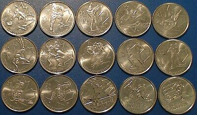 Canada Quarter 25 Cents 2010 Vancouver Olympic 15-Coin Set
