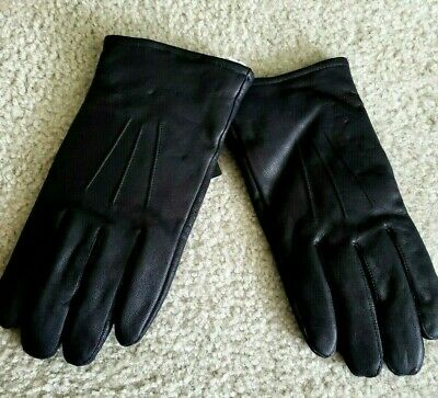 Jos A. Bank Black Genuine Lambskin Leather Thinsulate Insulation Dress Gloves