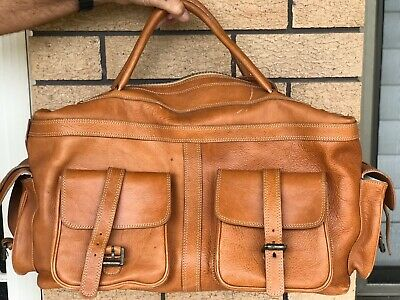 Mulberry Vintage Tan Leather Overnight Bag