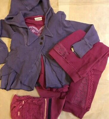 Naartjie Girls Size 6 Gorgeous Purple And Pink 4 Piece Outfit #85