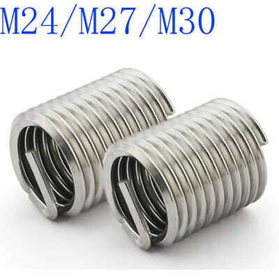 M24 M27 M30 Helicoil Thread Insert 304 Stainless Steel Thread Repair Wire Insert