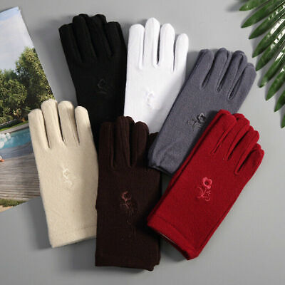 Womens Warm Cotton Fabric Short Gloves Opera Wedding Party Prom Costume Gloves