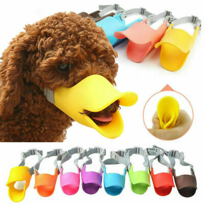 Dog Silicone Adjustable Duckbill Muzzle Anti Picking Dirty Mask Face Protection