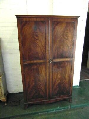 Georgian Style Mahogany Two Door Wardrobe