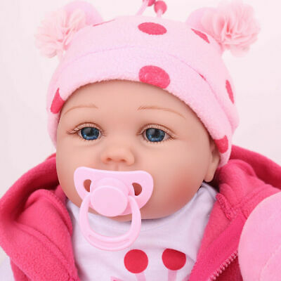 16'' Reborn Baby Dolls Lifelike Vinyl Silicone Newborn Girl Doll Gifts Kids Toy