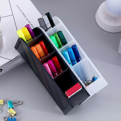 Pen Storage Box Desktop Stationery Holder Office Desk Organizer Container Case