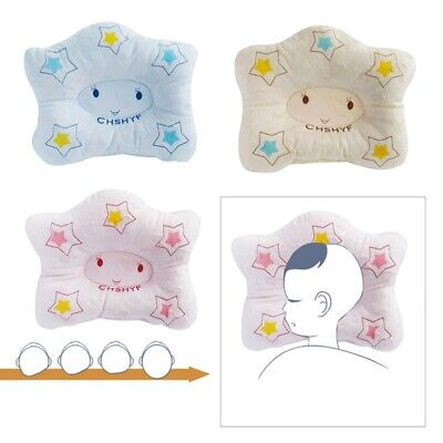 Baby Infant Pillow Newborn Anti Flat Head Syndrome for Crib Cot Bed Neck GRii