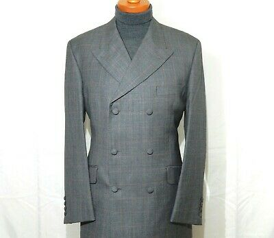 """mens 42""""-43"""" 34x30 Alexandre Savile Row Grey Double Breasted 2 Piece Suit SUPERB"""