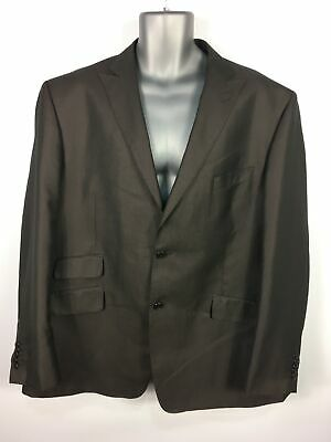 """Mens Fascino Grey/Brown Button Up Fitted Smart Suit Jacket Blazer 48 R 56"""" Chest"""