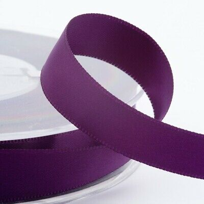 Plum Satin Ribbon Double Sided Full Roll 3mm 6mm 10mm 16mm 25mm 38mm 50mm