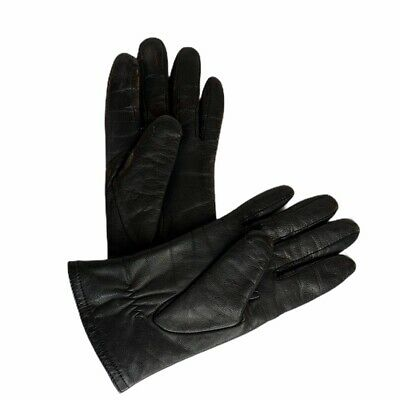 Thinsulate Womens Small Leather Driving Gloves Insulation 40 Gram Lined Black
