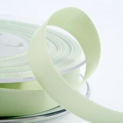 Light Green Satin Ribbon Double Sided Full Roll 3mm 6mm 10mm 16mm 25mm 38mm 50mm
