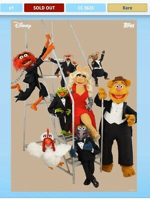 Topps Disney Collect Card Trader Vintage Muppets Series 1 Set of 6 + Award