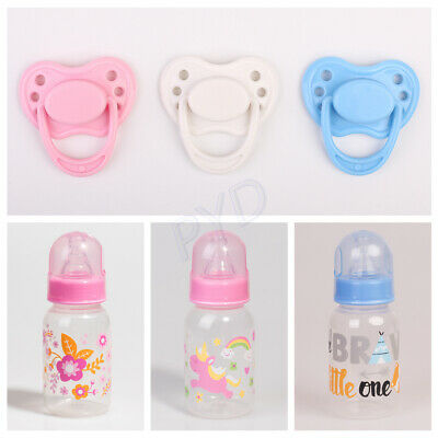 Feeding Nursing Bottle Magnetic Pacifier Dummy for Reborn Baby Doll Accessories